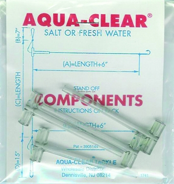 Picture of Aqua Clear Components-Lg Tees Large Tees-4 Per Pkg