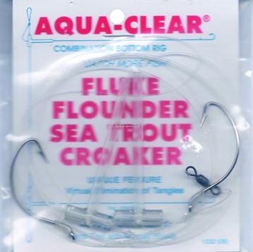 Picture of Aqua Clear Hi/Lo Fluke/ Flounder/Trout/Croaker 2/0 Sswg Hks