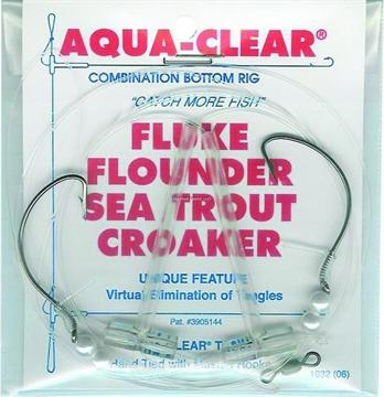 Picture of Aqua Clear Hi/Lo Fluke/ Flounder/Trout/Croaker 2/0 Sswg Hooks/Pearls
