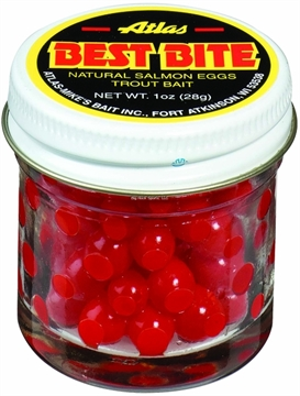 Picture of Atlas Best Bite Salmon Eggs, 1Oz Jar Red
