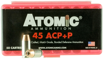 Picture of Atomic 00412 Defense 45 Acp +P 185 GR Bonded Mhp 50 Bx/ 10 CS