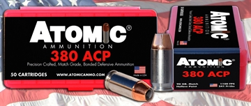 Picture of Atomic 00414 Defense 380 Acp 90 GR Hpoint 50 Bx/ 10 CS