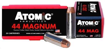 Picture of Atomic 00440 Match 44 Remington Magnum 240 GR Bonded Match Hollow Point 50 Bx/ 10 CS