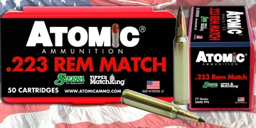 Picture of Atomic 00452 Match 223 Remington/5.56 Nato 77 GR Tipped Matchking 50 Bx/ 10 CS