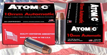Picture of Atomic 00457 Defense 10Mm Automatic 180 GR Bonded Mhp 20 Bx/ 10 CS