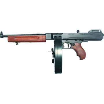 Picture of Thompson 1927A1 Semi Auto Pistol 45 Acp, 10.5 In, Wood Grp, 100+1 Rnd, Front Blade/Open Adj Rear, Blk Frame