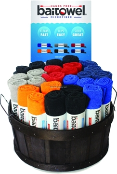 Picture of Baitowel Bt-48 48 PC Fishing Towel Assortment W/Basket