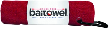 Picture of Baitowel Fishing Towel W/Clip Blood Red