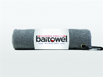 Picture of Baitowel Fishing Towel W/Clip Overcast Gray