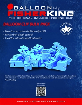 Picture of Balloon Fisher King Ballon Clip Bulk Pack Includes 50 Ballon Clips