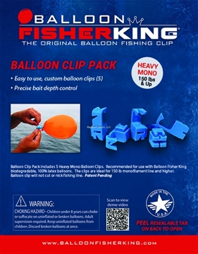 Picture of Balloon Fisher King Balloon Clip Pack Heavy Mono 5Ct