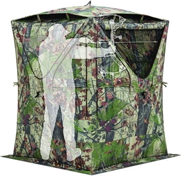 Picture of Barronett Big Mike W/Vents 2 Person Hub Blind Bloodtrail Backwoods Camo