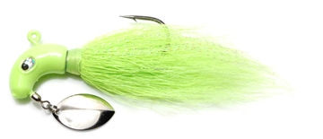 Picture of Baycoast Hyper Striper Lure With Spinner, 1 Oz, Chartreuse