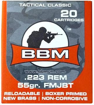 Picture of Bbm 223Fm55za Tactical 223 Remington/5.56 Nato 55 GR Fmj 20 Bx/ 50 CS