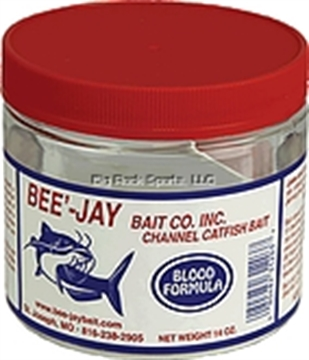 Picture of Bee'-Jay Blood Catfish Dough Bait, 14Oz Jar