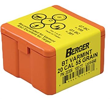 Picture of Berger 20Cal 55Gr Mth Var BT