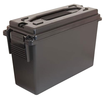 "Picture of Berrys 00330 Ammo Can 40 Caliber Plastic 9.25"" X 3.5"" AT Base 6.75"" X 3.75"" AT Top Plastic Black"