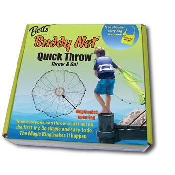Picture of Betts Buddy Quick Throw Net 4Ft 0.375In Mesh Chartreuse