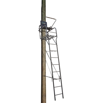 Picture of Big Dog Hunting 22' Beast Ladderstand, Padded Back & Arm Rests, Shooting Rail, Rigid Rectangle Ladder, Flip UP Foot Rest, Capacity 300Lbs