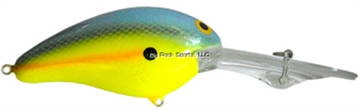 """Picture of Bill Norman Deep Little-N Crankbait, 2 1/2"""", 3/8 Oz, Gel-Coat Chartreuse Sexy Shad"""