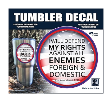 """Picture of Bones """"Defend MY Rights"""" Tumbler Decal"""