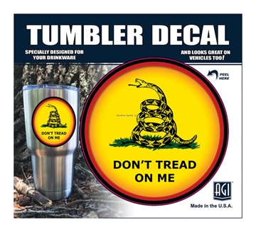 """Picture of Bones """"Don't Tread ON Me"""" Tumbler Decal"""