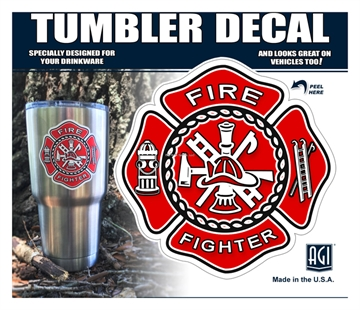 """Picture of Bones """"Firefighter Logo"""" Tumbler Decal"""