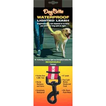 Picture of Brite Companies Companies Dog Brite Red Waterproof Lighted Dog Leash