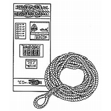 Picture of Buccaneer Rope Co. AN LN 3/8Nx50f TN WH