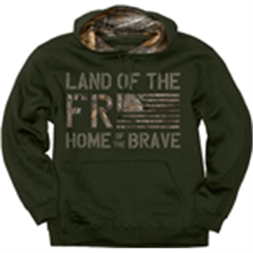 "Picture of Buck Wear Wear Hoodie ""Land OF The Free"" Forest Night Lrg"