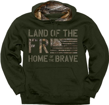 "Picture of Buck Wear Wear Hoodie ""Land OF The Free"" Forest Night XL"