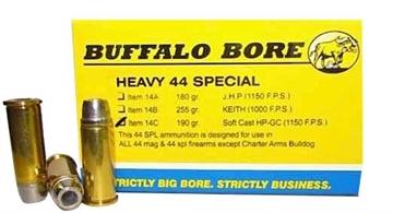 Picture of Buffalo Bore 14C/20 Handgun 44 Special Soft Cast Hollow Point 190 GR 20Box/12Cas