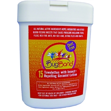 Picture of Bug Band Insect Repellent Towelettes 15 Count Tub