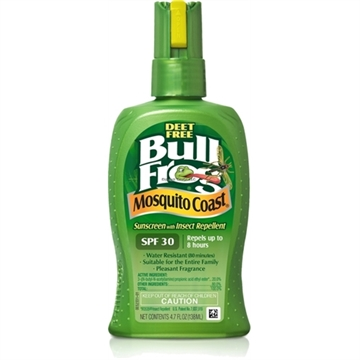 Picture of Bullfrog Mosquito Coast Sunscreen + Insect Repellent, 4.7 OZ Pump Spray, Spf 30, Deet-Free