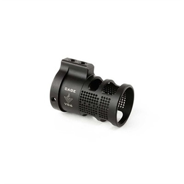 Picture of Aero Precision Apvg100201 Vg6 Cage Recoil Reducer AR Style Stainless Steel Black Nitride