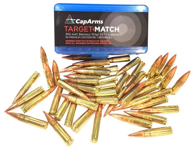 Cap Arms D300n150b Target Match 300 Aac Blackout/Whisper (7 62X35mm) 150 GR  Sst