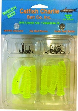 Picture of Catfish Charlie Bait Dip Bait Worm Cht 12Pk