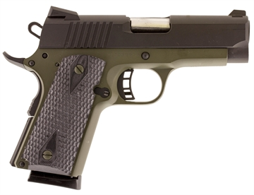 "Picture of Citadel C45cs200190h M-1911 Compact Single 45 Acp 3.5"" 7+1 Hogue Grip Olive Drab"