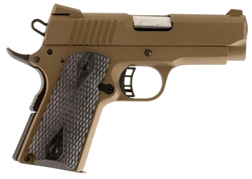 "Picture of Citadel C9mmcs148h00 M-1911 Compact Single 9Mm 3.5"" 8+1 Hogue Grip Burnt Bronze"