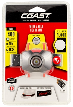 Picture of Coast 21304 Fl60 Headlamp 300 Lumens Aaa (3) Red/Black