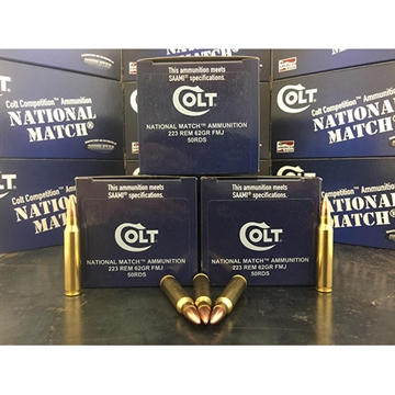 Picture of Colt Ammo 223R62fmjct National Match 223 Rem/5.56 Nato 62 GR Fmj 50 Bx/ 20 CS