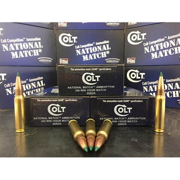 Picture of Colt Ammo 308W155ct National Match 308 Win/7.62 Nato 155 GR Match 20 Bx/ 50 CS