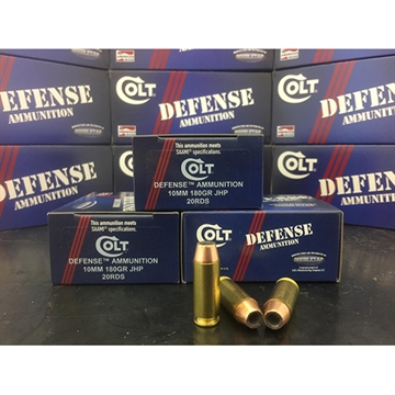 Picture of Colt Ammo 10M180ct Defense 10Mm Automatic 180 GR Jhp 20 Bx/ 50 CS