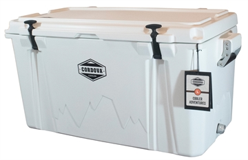 """Picture of Cordova Coolers Cclw86qt 100 Large  86 Quarts 38"""" X 17.75"""" X 18.75"""" White Polymer 85 Cans"""