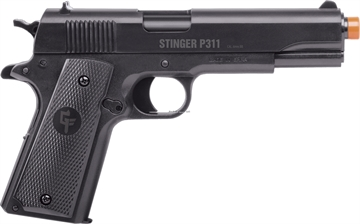 Picture of Game Face Stinger P311 (Black) - Spring Powered, Single Shot Military Style Pistol, 325 Fpr