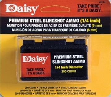 """Picture of Daisy 1/4"""" Steel Slingshot Ammo"""
