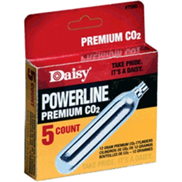 Picture of Daisy Co2 Cylinders 12-Grams 5-Cyl/Pack 12-Packs/Carton