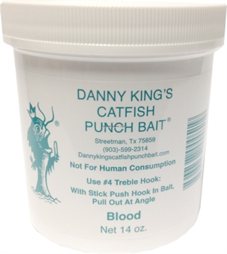Picture of Danny Kings Catfish Punch Bait-Blood 14Oz