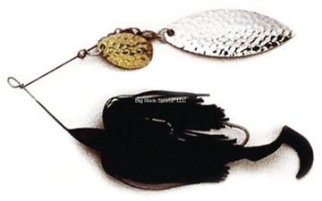 Picture of Dixie Dancer Lures Spinnerbait, 3/8 Oz, Tandem Indiana Blades, Black