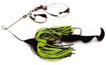 Picture of Dixie Dancer Lures Spinnerbait, 3/8 Oz, Tandem Indiana Blades, Black/Chartreuse